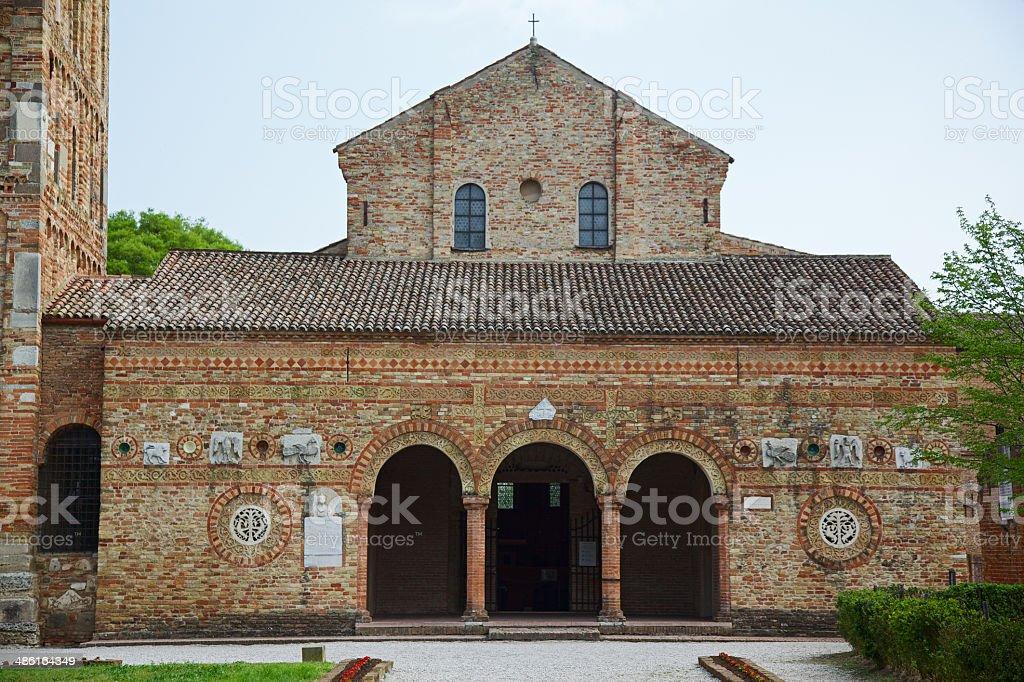Pomposa Abbey (Abbazia di Pomposa), Ferrara, Italy royalty-free stock photo
