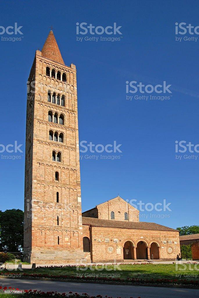 Pomposa Abbey stock photo