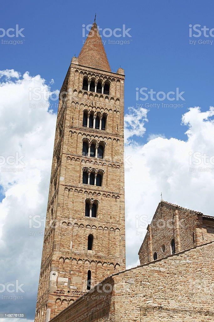 Pomposa Abbey - the Church, Italy stock photo