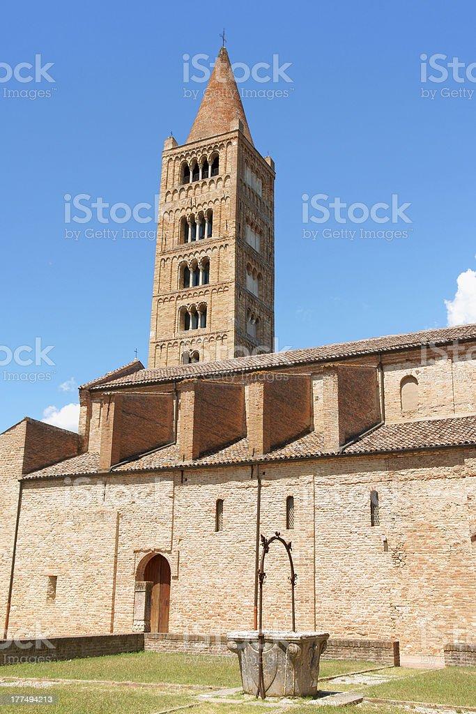 'Pomposa Abbey - the Church, Italy' stock photo