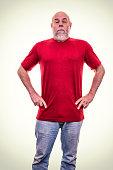 Pompous Haughty Arrogant Senior Adult Man Snob
