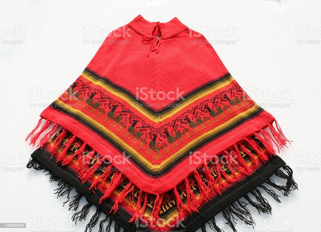 Ponchos from Peru stock photo