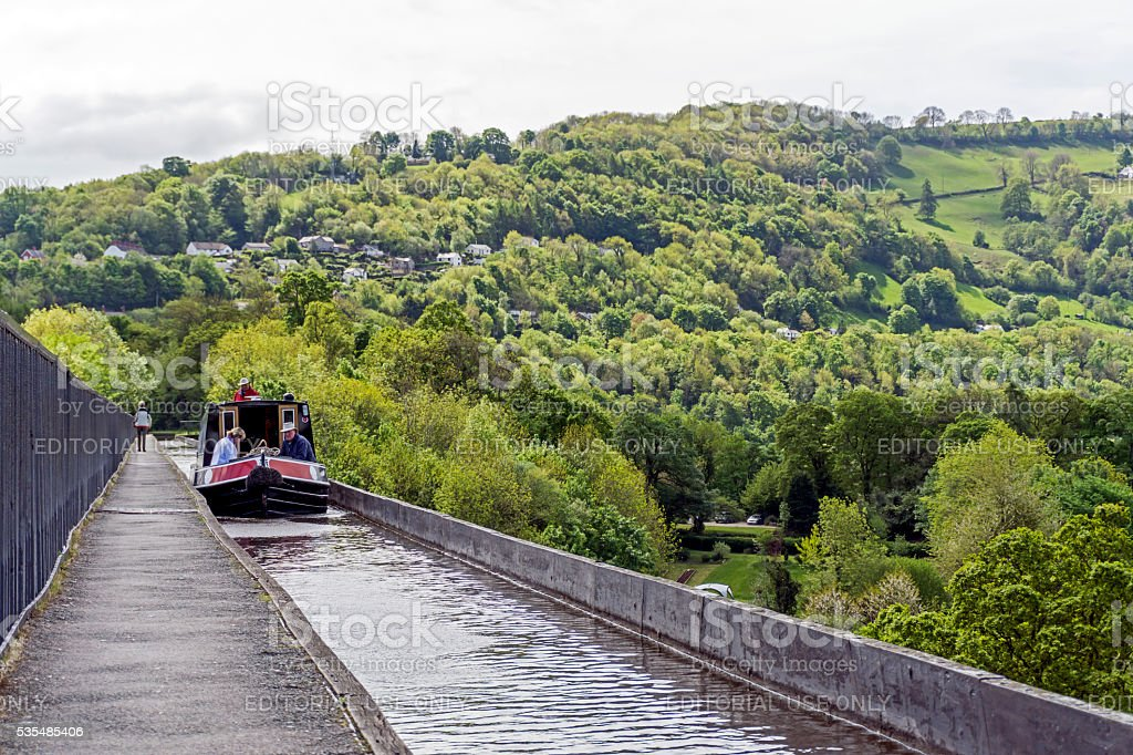 Poncysyllte Aqueduct North Wales stock photo