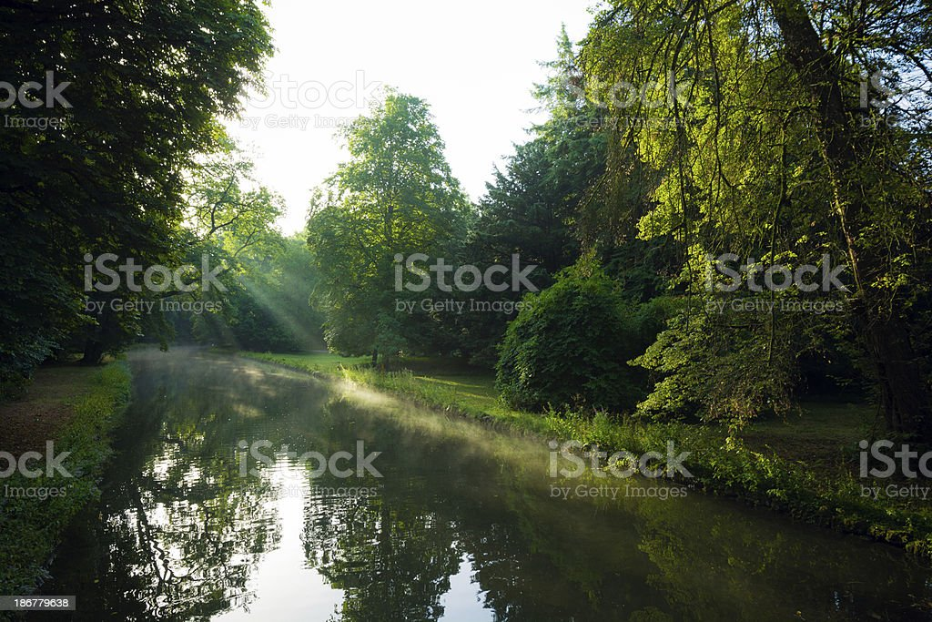 Pond at Nymphenburg Palace in Munich, Germany royalty-free stock photo