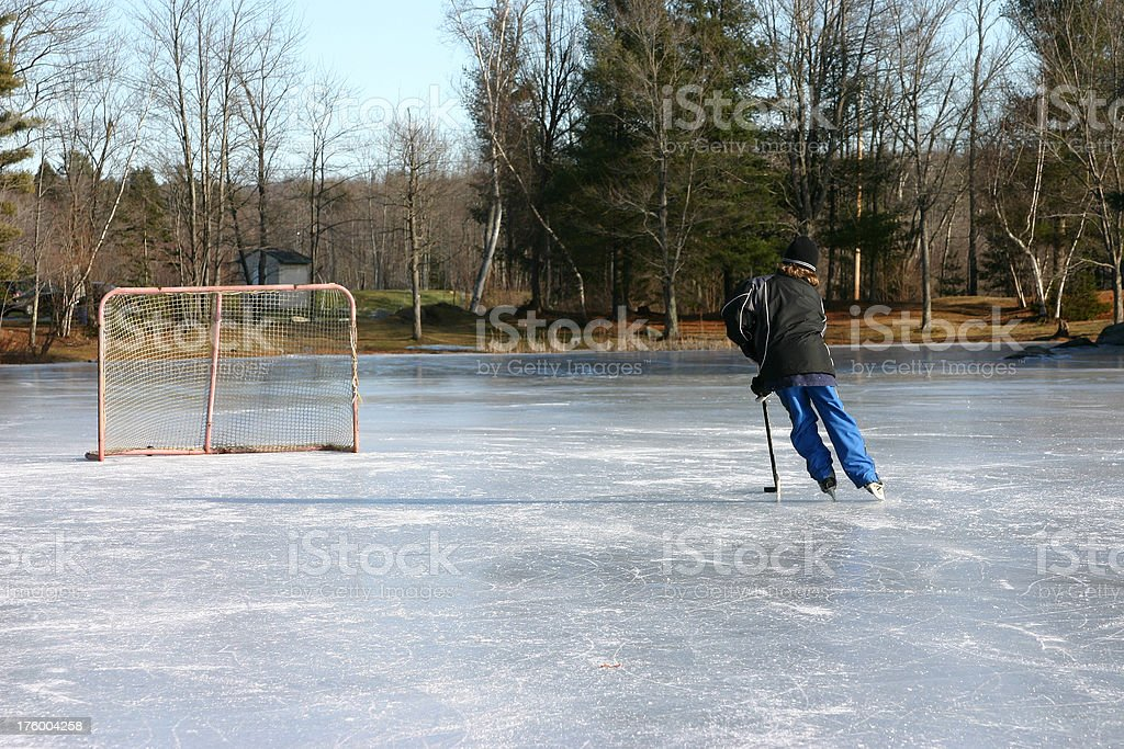 pond hockey III royalty-free stock photo