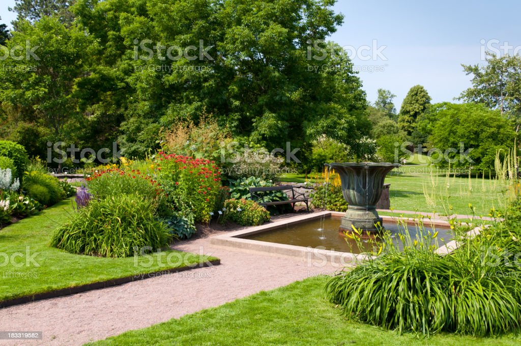 Pond in Ornamental Garden royalty-free stock photo