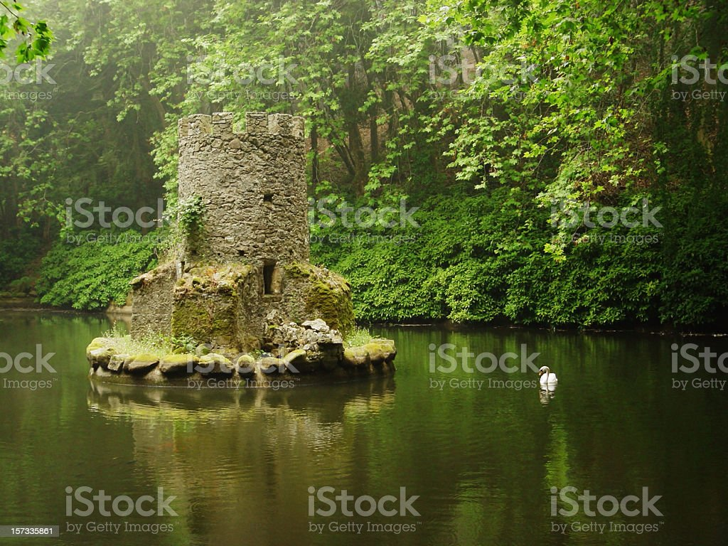 Pond in Sintra, Portugal stock photo