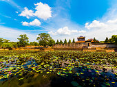 Pond in the Imperial City in Hue, Vietnam