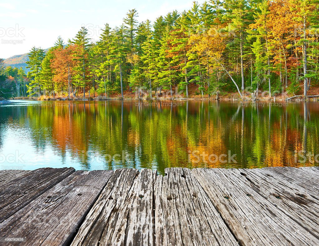 Pond in White Mountain National Forest, New Hampshire stock photo