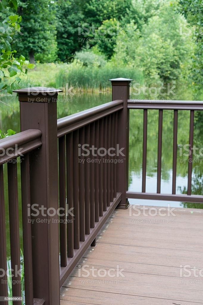 Pond Overlook, Rochester Michigan Samuel Howlett City Park stock photo