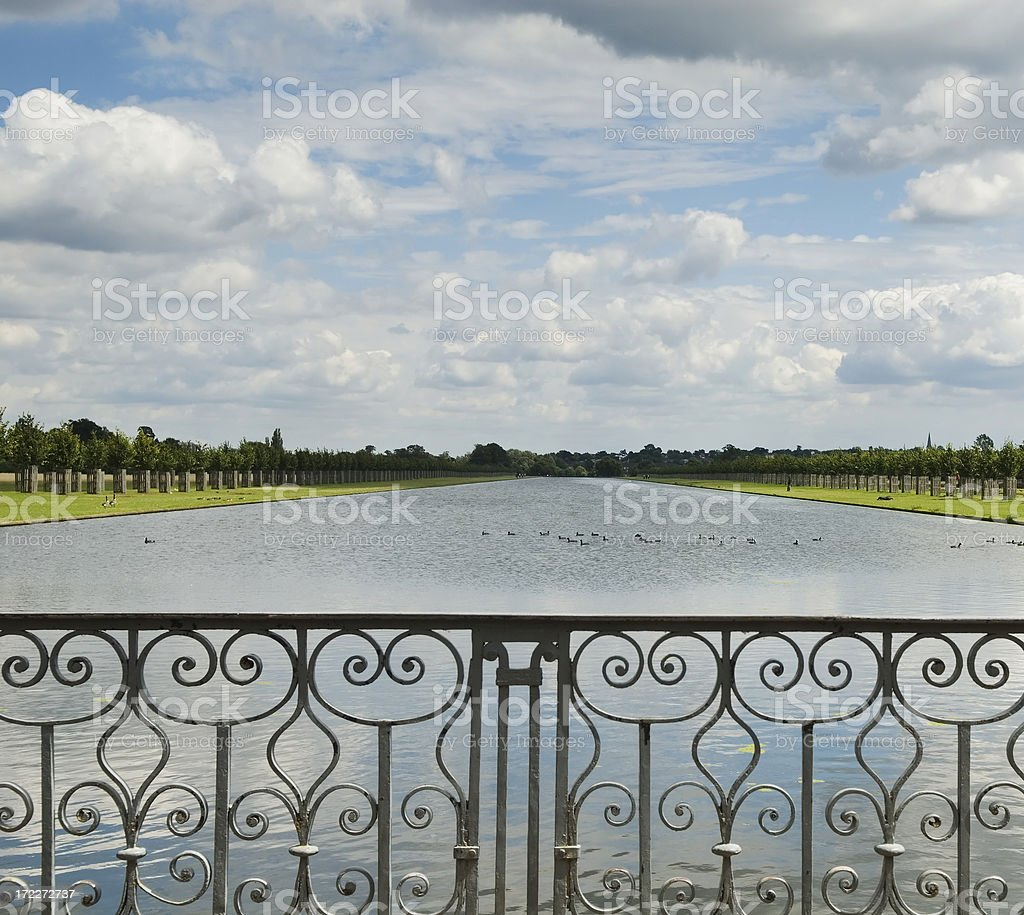 Pond view stock photo