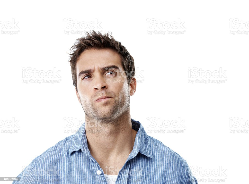 Pondering a possible solution royalty-free stock photo