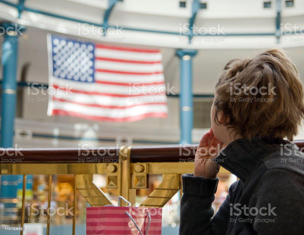 Pondering America stock photo
