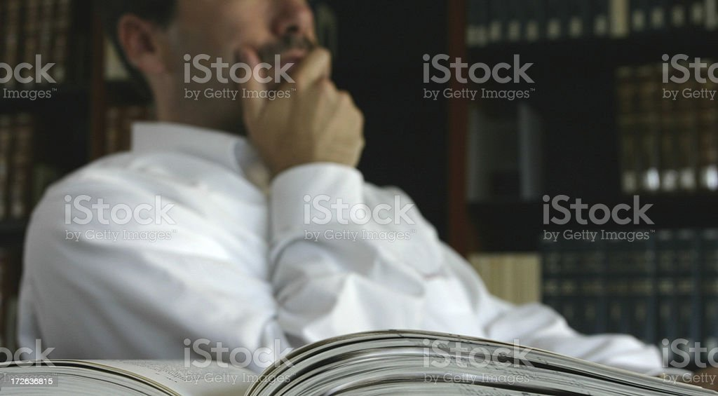 Pondering royalty-free stock photo