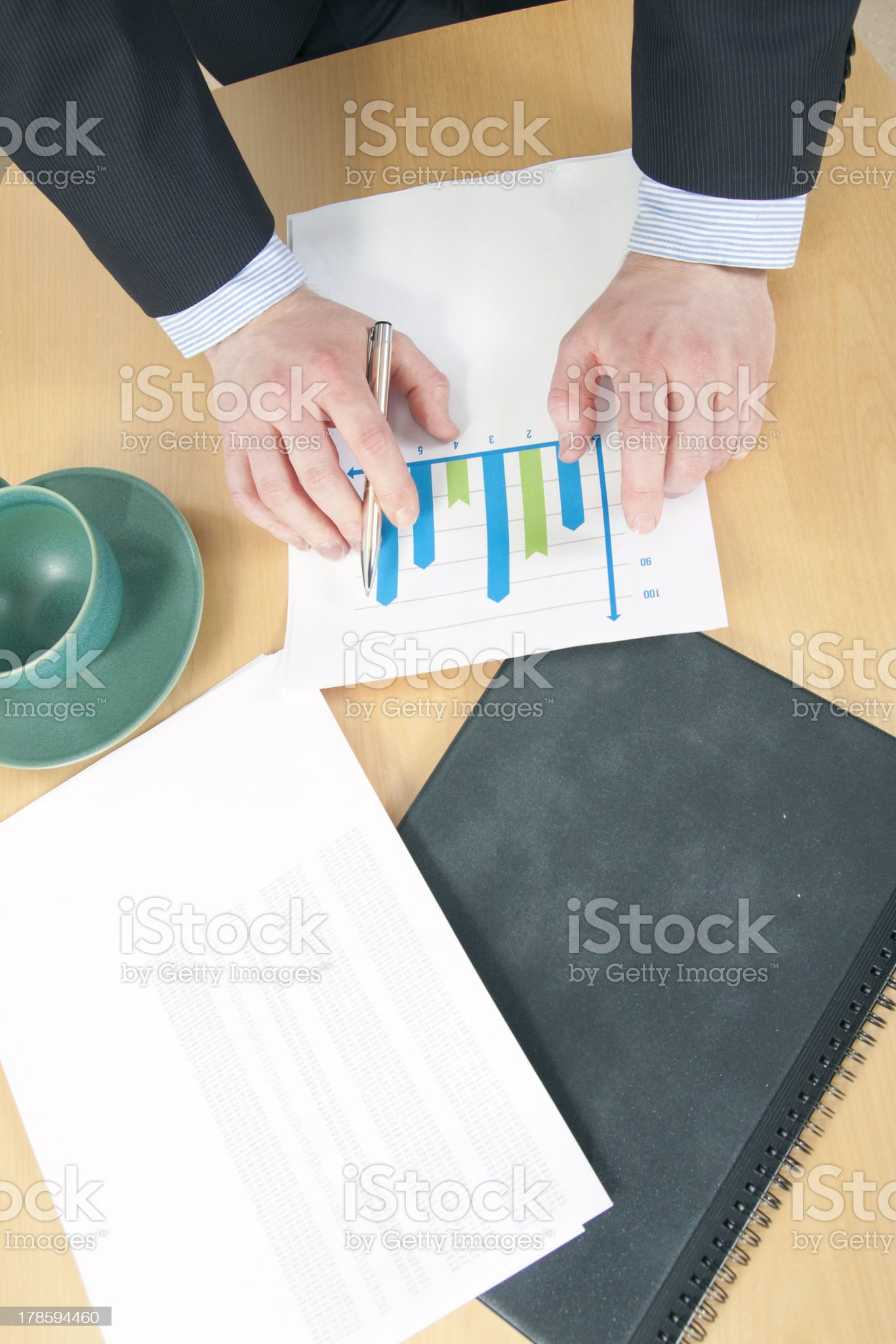 Pondering Results royalty-free stock photo