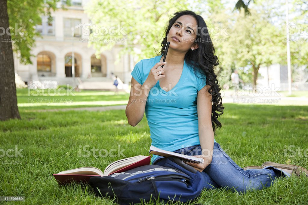 Pondering Student royalty-free stock photo