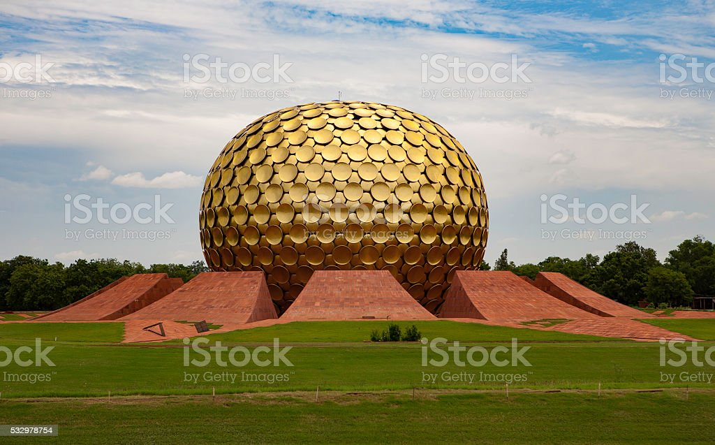 Pondicherry Globe stock photo