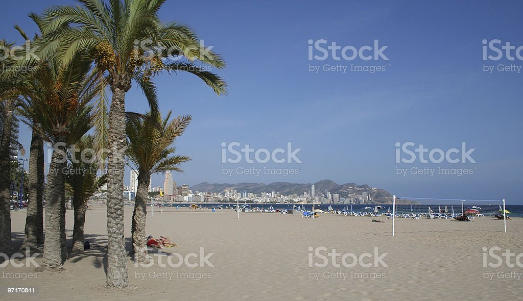 Poniente Beach, Benidorm. royalty-free stock photo