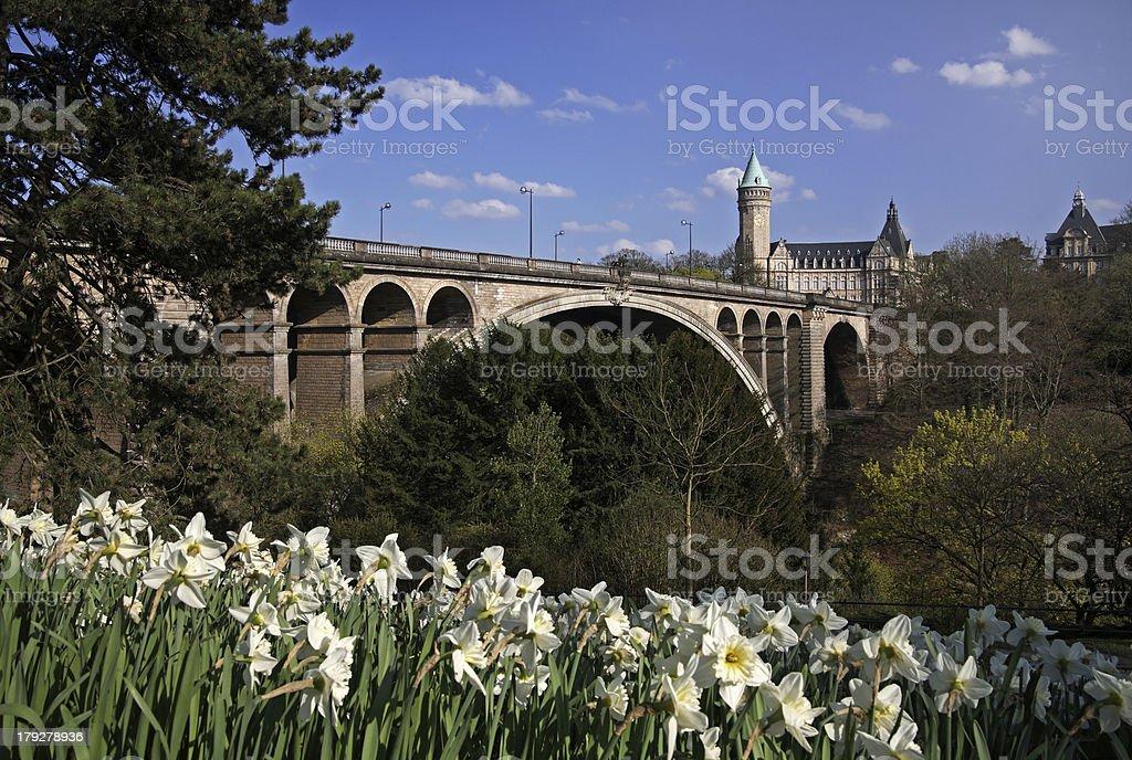 Pont Adolphe Bridge, Luxembourg stock photo