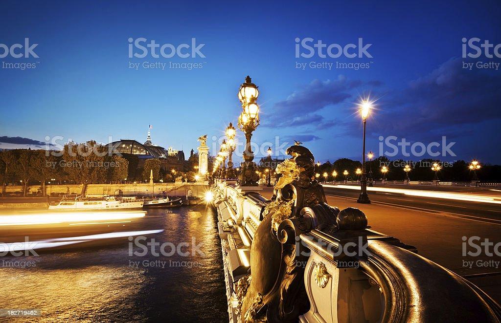 Pont Alexandre III bridge  in Paris royalty-free stock photo