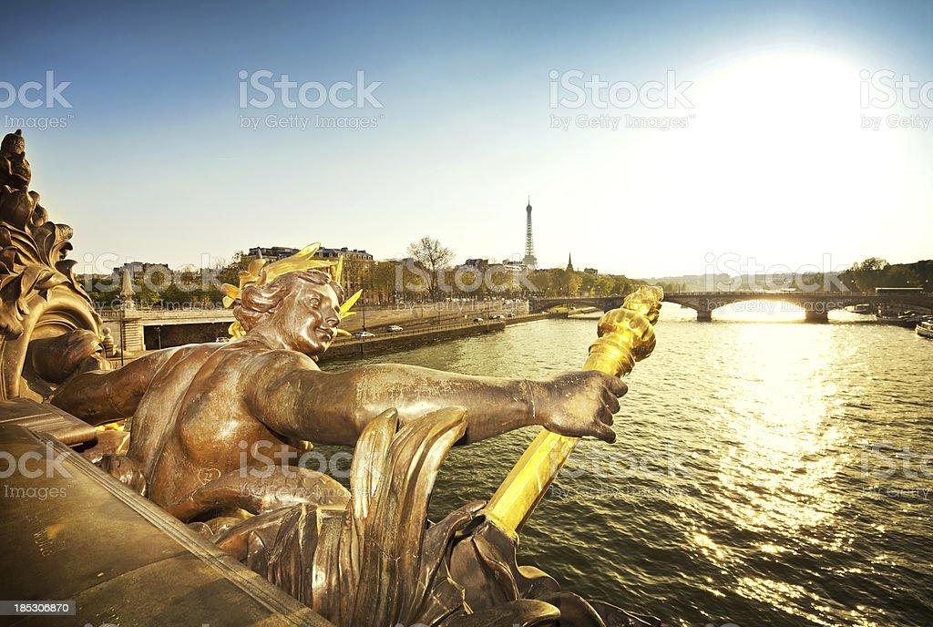 Pont Alexandre III Bridge in Paris stock photo