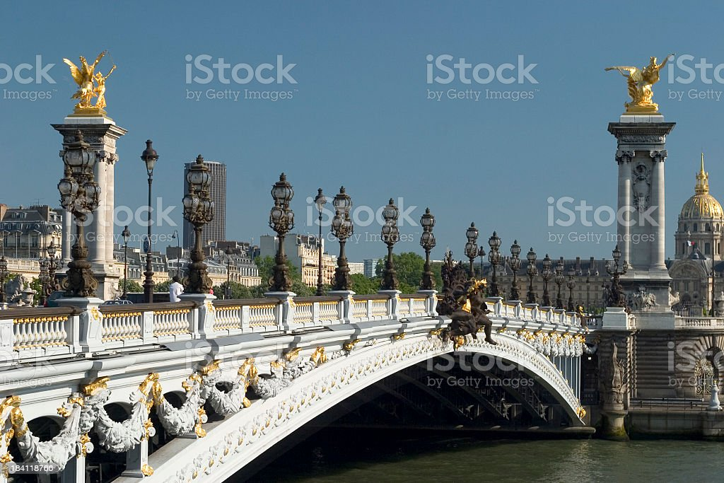 Pont Alexandre III Paris stock photo