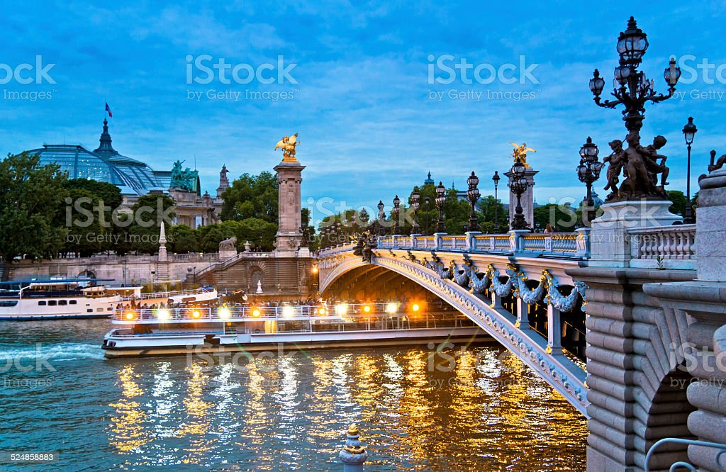 Pont Alexandre III, Paris stock photo