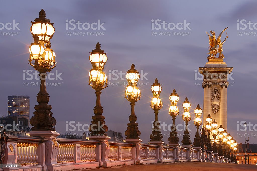 Pont Alexandre III stock photo