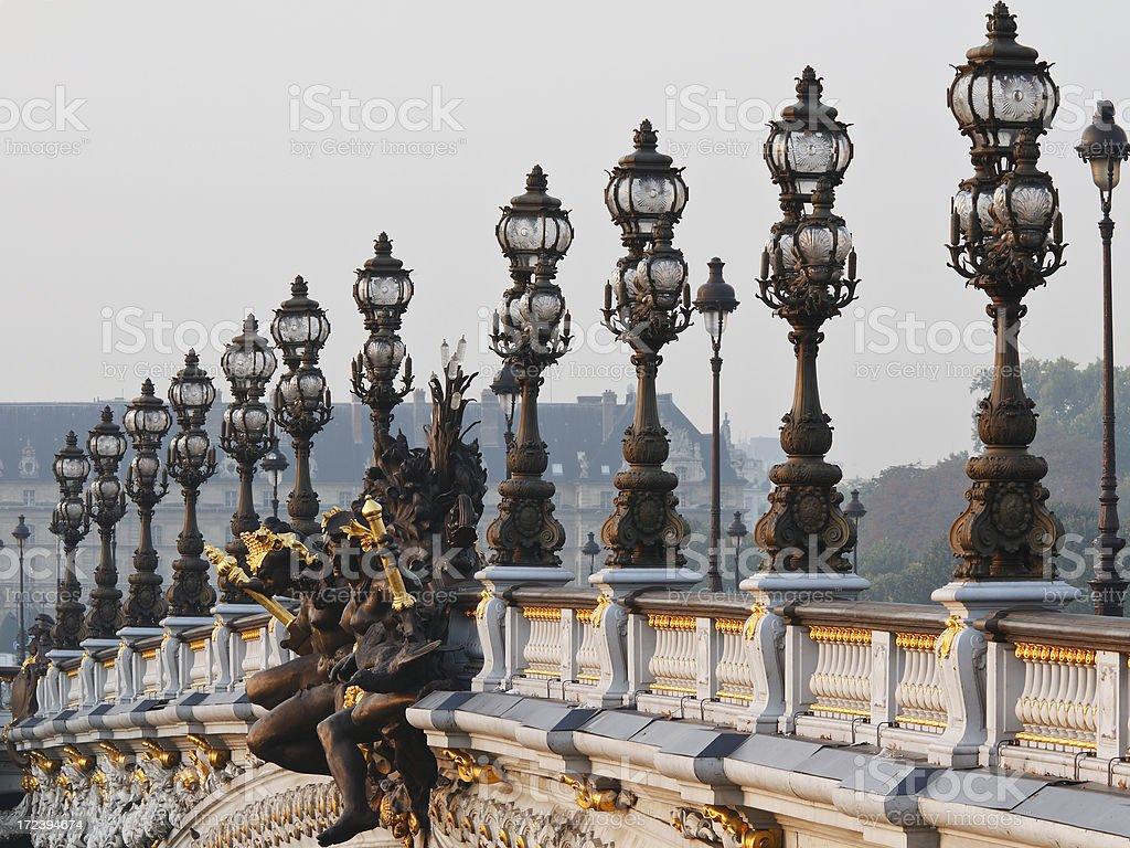 Pont Alexandre III royalty-free stock photo