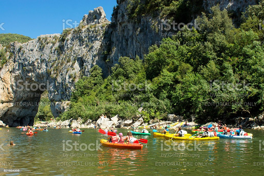 Pont D'Arc Ardeche stock photo