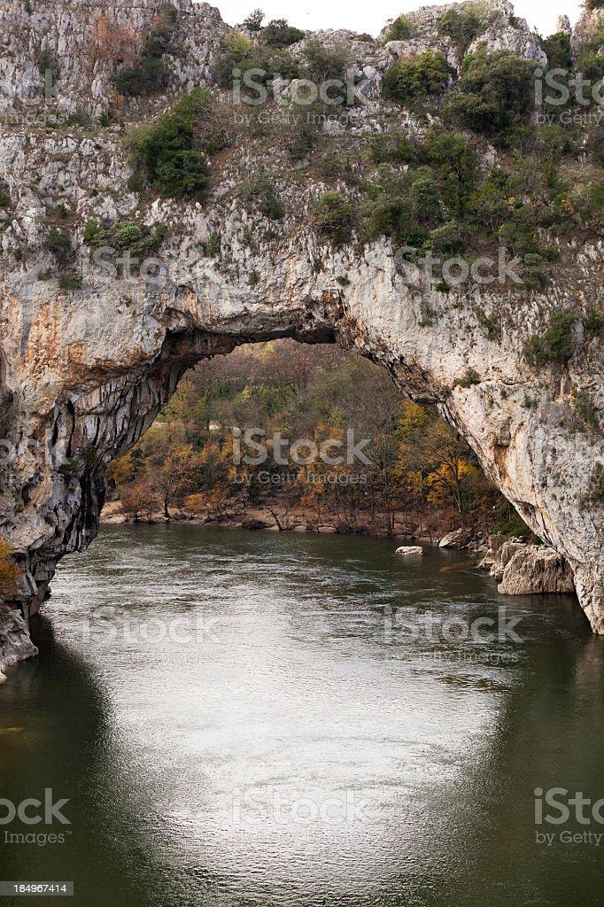 Pont d'Arc stock photo