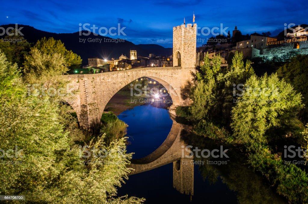 pont de besalú puente besalu girona garrotxa stock photo