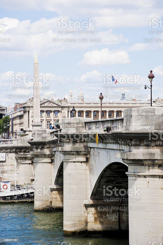 Pont de la Concorde in Paris royalty-free stock photo