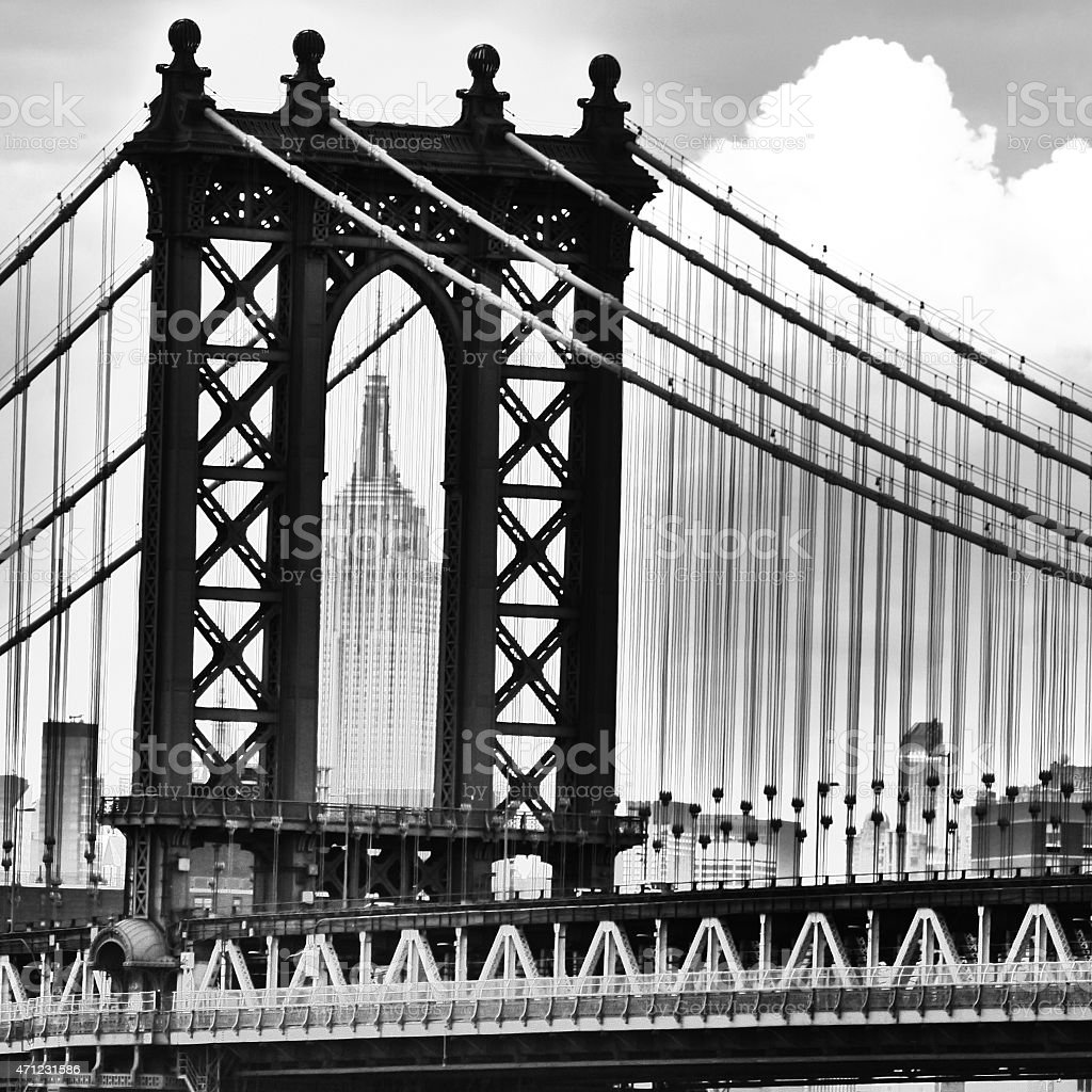 Pont de Manhattan avec Empire State Building stock photo