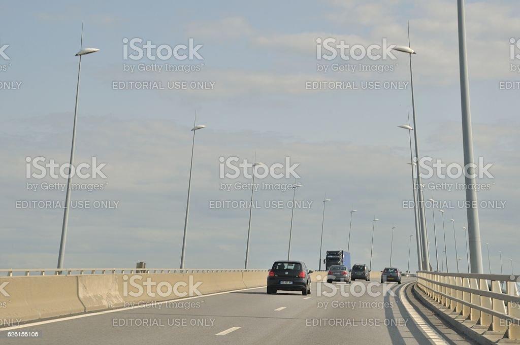Pont de Normandie stock photo