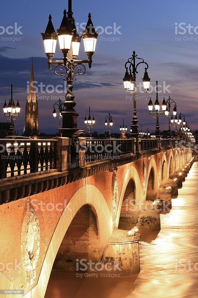 Pont de Pierre bridge stock photo