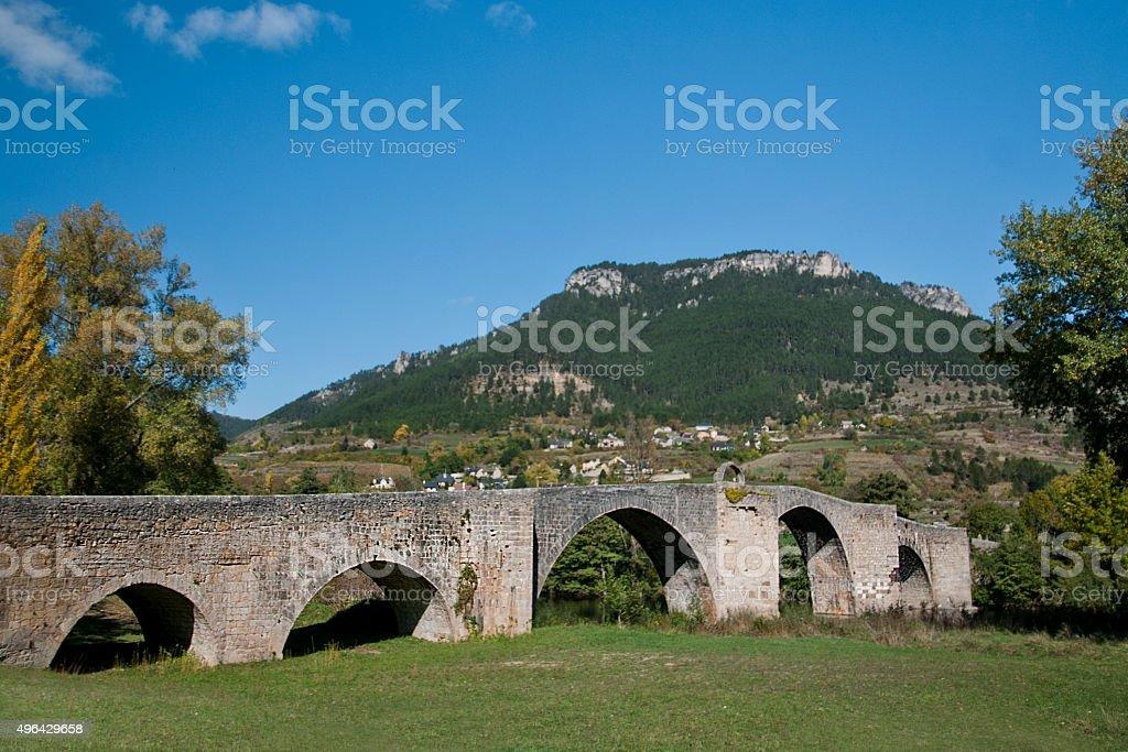 Pont de Quézac stock photo