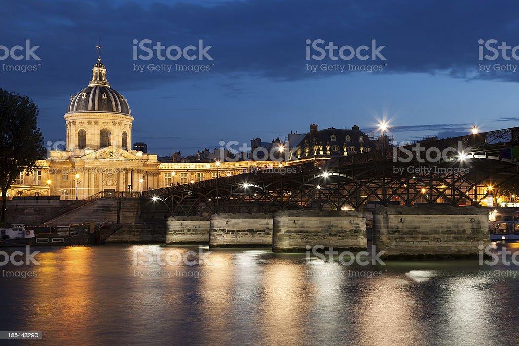 Pont des arts and institut de France, Paris stock photo