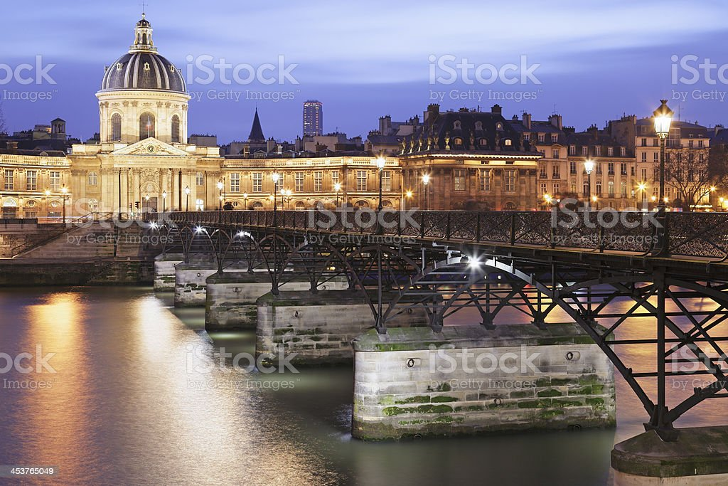 Pont des Arts & Institut de France - Paris royalty-free stock photo