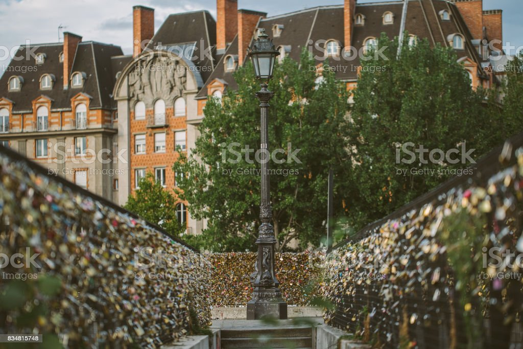 Pont des Arts, Lock love bridge stock photo
