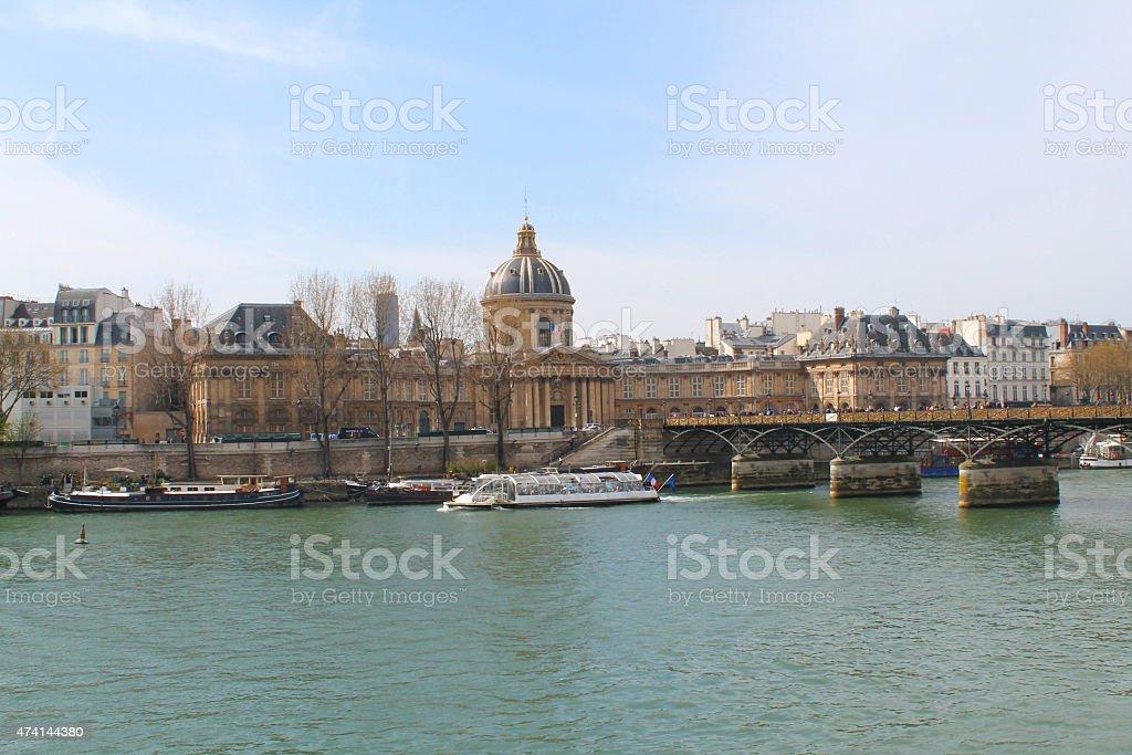 Pont des Arts à Paris, France stock photo