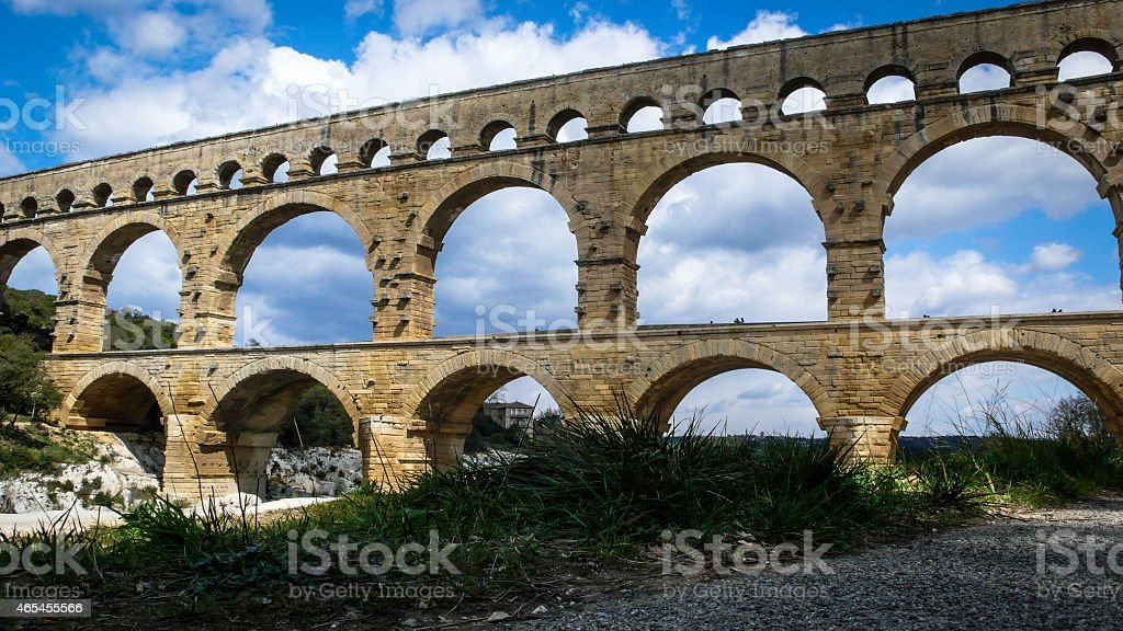 Pont Du Gard Aqueduct royalty-free stock photo