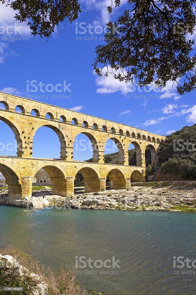 Pont Du Gard Bridge royalty-free stock photo