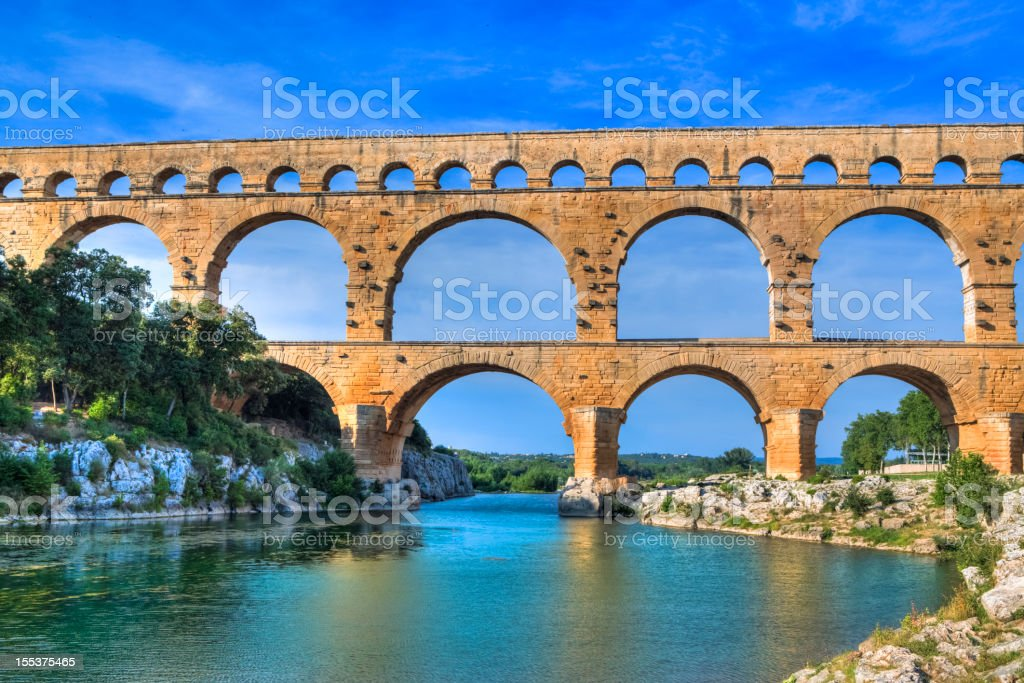 Pont du Gard, France stock photo