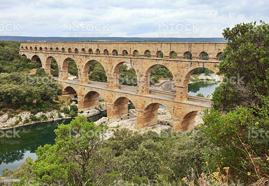 Pont du Gard, France royalty-free stock photo
