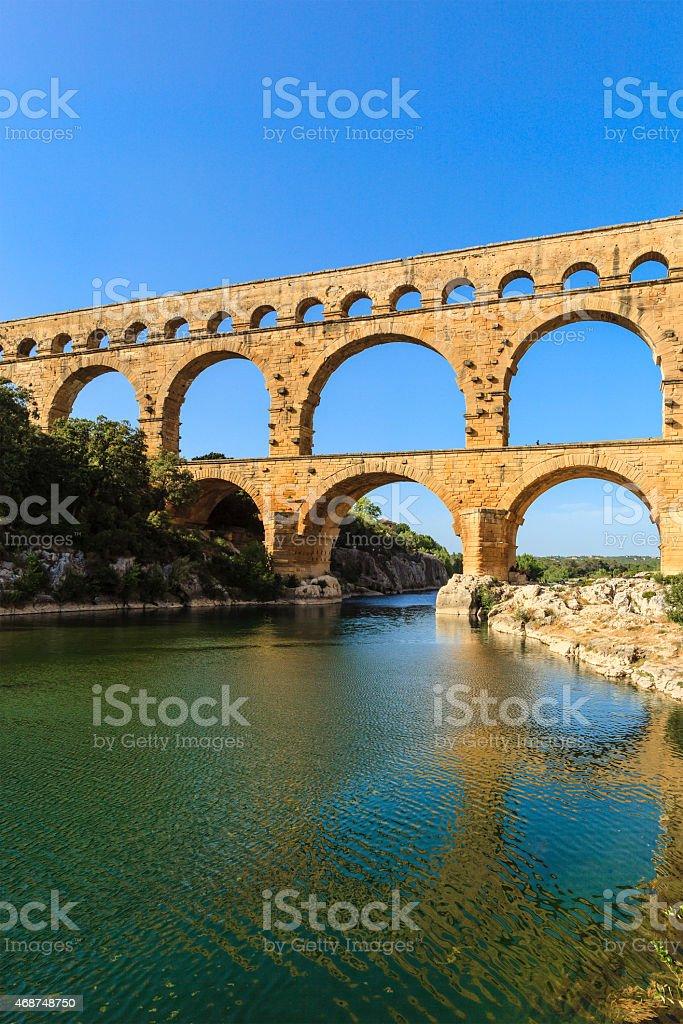 Pont du Gard - France stock photo