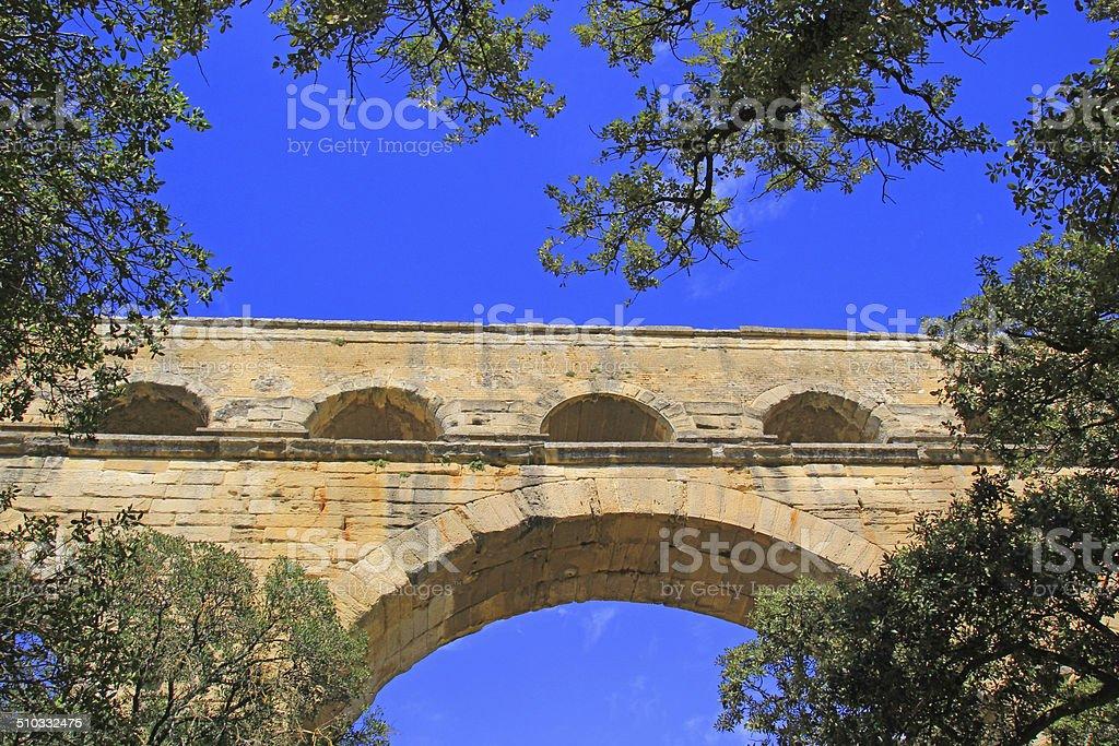 Pont du Gard, France. stock photo