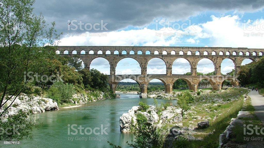 Pont du Gard, Gard, France 002 stock photo