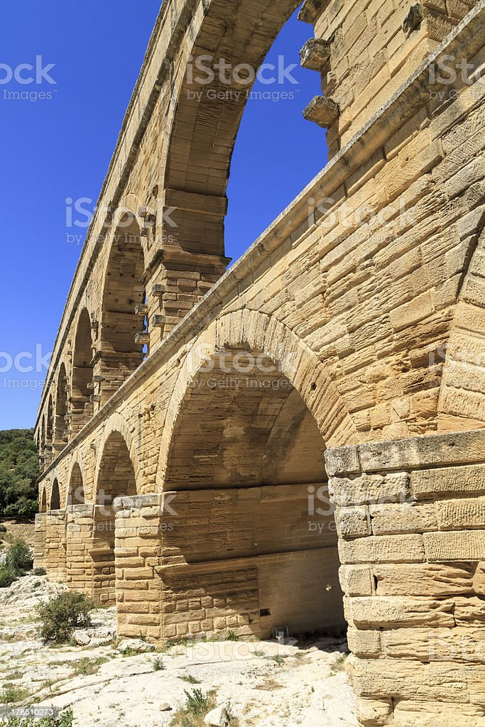 Pont du Gard, Nimes, Provence, France royalty-free stock photo