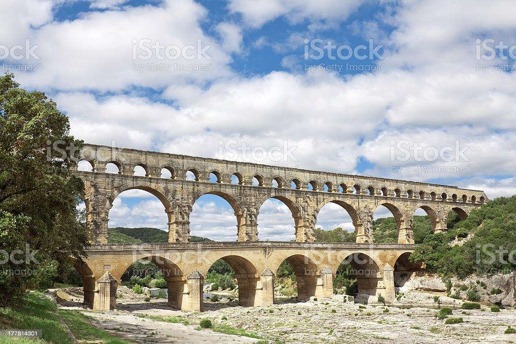 Pont du Gard royalty-free stock photo